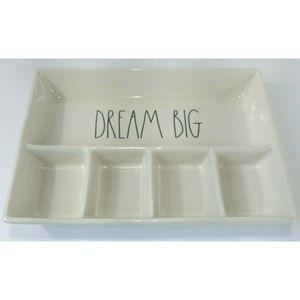Rae Dunn Dream Big Ceramic Organizer Vanity Tray